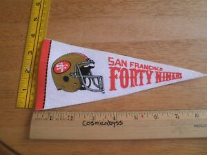 "San Francisco 49ers 1980's felt pennant 9"" mini football helmet"