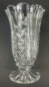 "Towle Full Lead Crystal Vase 10"" Pineapple Design Made In Slovakia"