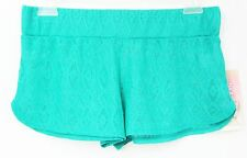 MIKEN Cover Up Shorts Crochet   Size M   Ceramic Green NWT  $28