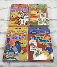 Disney Winnie Pooh Lot Learning Flash Cards Game Match Shapes First Words