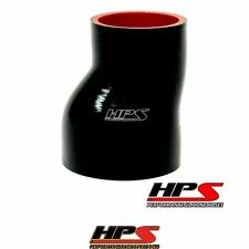 "HPS High Temp 2.5"" > 3"" ID x 3"" 4-ply Silicone Offset Reducer Coupler Hose Black"