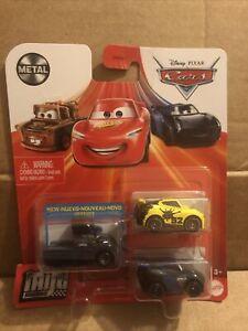 DISNEY CARS DIECAST Mini Racers Gale Beaufort, George New-Win - Read Description