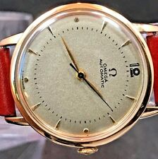 EXCELLENT VINTAGE FANCY 1944 OMEGA BUMPER AUTOMATIC GOLD WATCH SERVICE 28.10RA