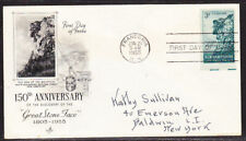 """USA """"Artcraft"""" 1955 Great Stone Face  First Day Cover addressed"""