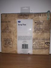 Boots Scrap That Flat Cosmetics Bag Travel Stamp Print Paper/Case/Toiletries/NEW