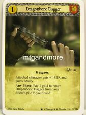 A Game of Thrones LCG - 1x Dragonbone Dagger  #086 - Westeros Draft Pack