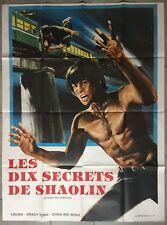 Affiche LES DIX SECRETS DE SHAOLIN Le Boss des Crapules ARTS MARTIAUX 120x160cm*