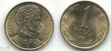 Chili 1 Peso 1990 KM# 216 Ø 17 mm Sans Circulaire / UNC