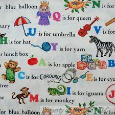 BonEful Fabric Cotton Quilt Corduroy Bear Letter Alphabet Book Word School Child