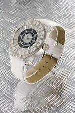 orologio donna bracciale in pelle Nele Fortados - molti strass -.design - A2417