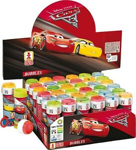 Cars 3, bubble tub with maze, party bag fillers, multiples of 6