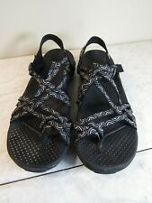 Skechers Outdoor Lifestyle Black Slingback Strappy Sandal Shoes Women's Size 8 M