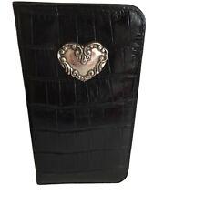 Brighton Black Leather Croc/Silver Eyeglass Sunglass iphone Case