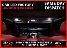 FULL INTERIOR LED LIGHTING UPGRADE KIT BMW E93 3 SERIES CONVERTIBLE 2004-2012
