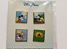 Disney Park 4 PINS Booster Pack COMIC STRIP Mickey Minnie Donald Chip Dale - NEW