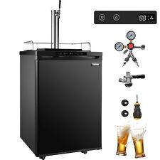 Vevor Digital Homebrew Kegerator 1 Tap Keg Dispenser Black Fridge Stainless