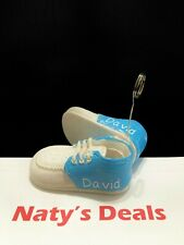 Baby Shoe Picture Holder With Your Customized Boys' Name