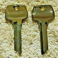 Original Sargent Rc Key Blank New Uncut Quantity Of 20