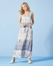 Blue/White Tie Dye Maxi Dress uk size 18  bnip