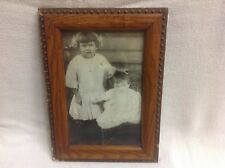 ANTIQUE UNIQUE PICTURE Oak frame old  photograph