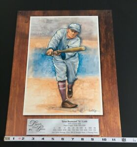 Ty Cobb-Legends of the Game #6 Collector's Series Tin Sign 16 X 12