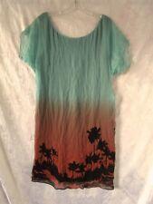 """Gorgeous  """"Diane Von Furstenberg""""  Silk Palm Print Dress Size 12"""
