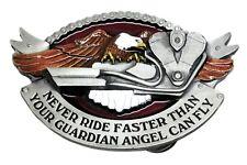Biker Belt Buckle Eagle & V Twin Motorcycle Bike Design Authentic Dragon Designs