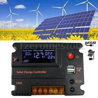 20A 12V/24V Intelligent LCD Solar Panel Regulator Battery Charge Controller New