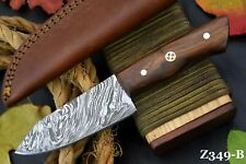 Custom Damascus Steel Chef Knife Handmade With Walnut Handle (Z349-B)