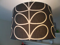 Handmade Lampshade Orla Kiely Linear Stem in Charcoal * double sided available *