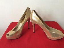 Michael Kors Sexy Gold Glitter High Heel Pump Shoes Size 9.5.  (box8)