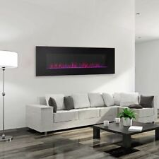 Ventless Electric Wall Mounted Modern Fireplace Heater Vent Less Color Changing