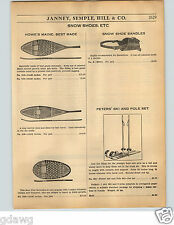 1936 PAPER AD Howe's Maine Best Made Snow Shoes Bear Paw Strand Skis Ridge Top