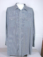 Wrangler  X-Long Tails Men's L/S Shirt Western 20-36 Tall [ 62in Chest 36in L ]
