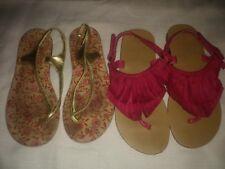 Gymboree Fairy Fashionable Girl 12 Pink Suede Fringe Sandals Shoes Gap gold lot