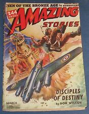 Amazing Stories  March 1943  Pulp Magazine  Edgar Rice Burroughs