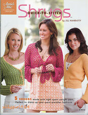 """""""SHRUGS""""~Annies Crochet PATTERN BOOK~5 Designs~Sizes Small to 5X~SEE PICS"""