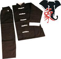 UNIFORME DIVISA KUNG FU RISVOLTI BIANCHI e TAI CHI Kimono Suit Wing Chun e Wushu