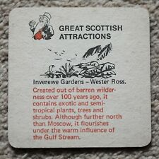 Vintage Younger's Tartan Beer Mat Great Scottish Attractions Inverewe Gardens