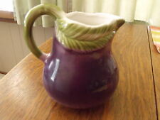 Eggplant Pitcher Italian  IRS pottery