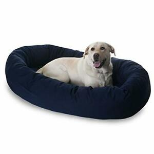 52 inch Blue Bagel Dog Bed By Majestic Pet Products