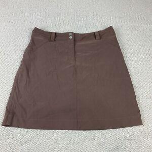 Women's Nike Golf Skort Sz 10 M Brown Fit Dry Skirt Shorts Longer Style NICE!