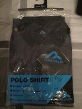 RIGOUR - GREY/BLACK POLO  T-SHIRT  size UK L -  65% COTTON - 35% POLYESTER