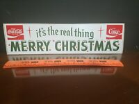 Its The Real Thing MERRY CHRISTMAS Coca-Cola Bumper Sticker Vintage