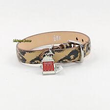 NWT Coach Leopard Ocelot Leather Animal Dog Pet Collar X/Small 66346 New RARE