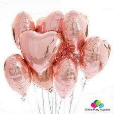 "18"" Rose Gold Heart Foil Balloon Bouquet (Pack of 10pcs)"