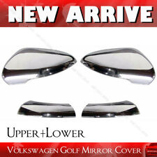 for VW Volkswagen Golf MK6 VI GTI 09-14 Chrome Door Mirror Cover Cap Upper+Lower
