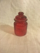 Glass Jar (Red)