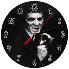 "8"" WALL CLOCK - JONATHAN FRID #1 Dark Shadows Barnabas Collins Vampire Gothic"