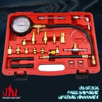 Fuel Injection Gauge Pressure Tester Test Car Manometer System Pump Kits 140PSI